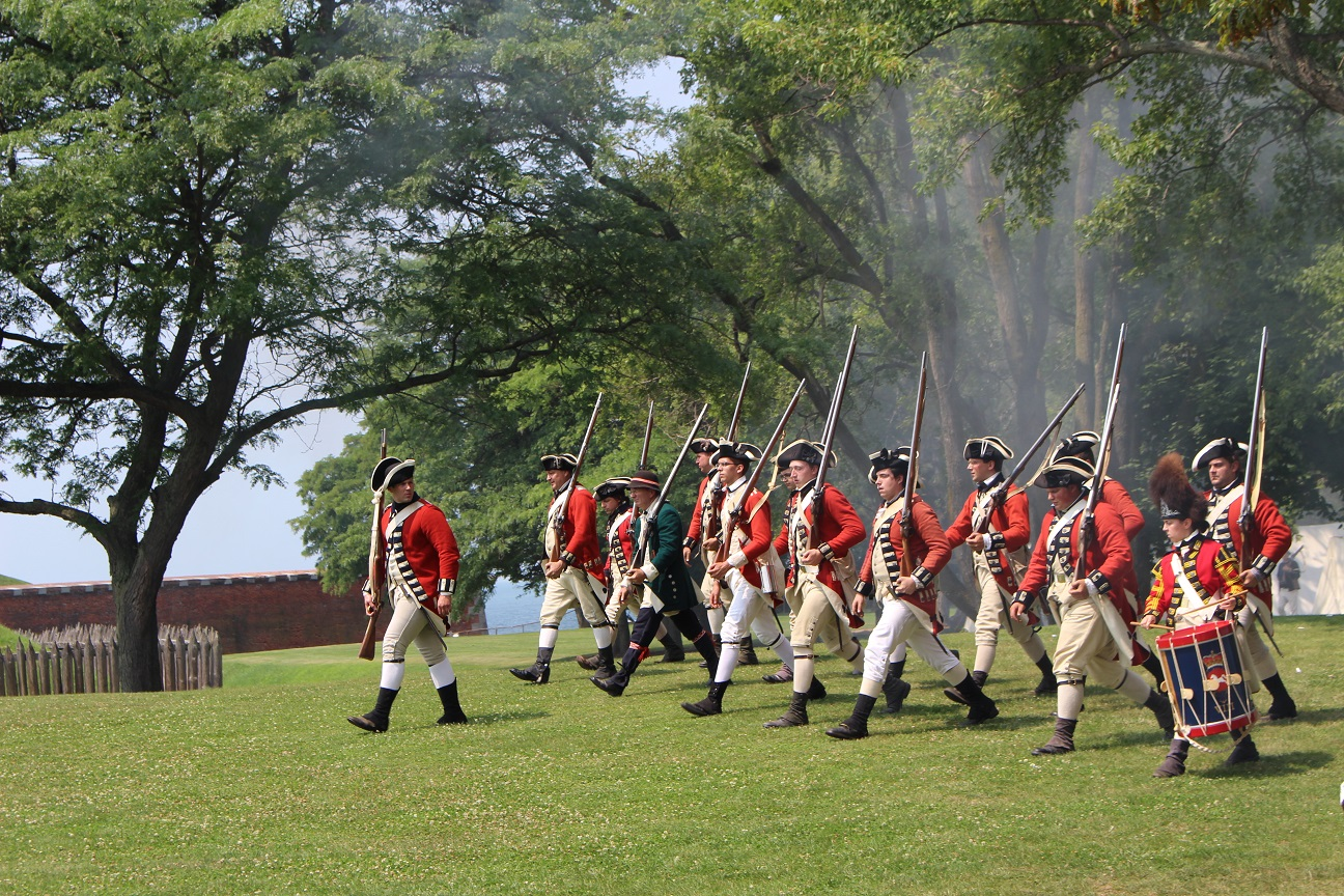 The British will clash with the colonial rebels at Soldiers of the Revolution, Aug. 18 and 19, at Old Fort Niagara. Battle demonstrations happen at 2 p.m. both days.