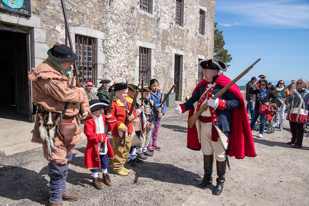 Visitors can `enlist` in the army and battle it out with wooden muskets at 'Patriots' Day Weekend,' April 27 and 28, at Old Fort Niagara.